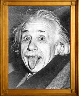 Picture Einstein sticks out his tongue