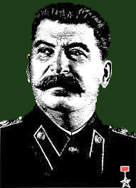 Picture Joseph Stalin in dark uniform
